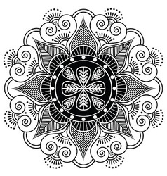 Indian pattern surounded with heart elements vector