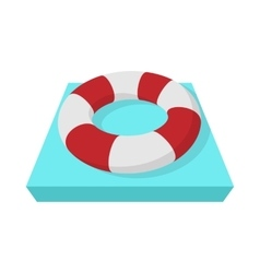 Lifebuoy icon cartoon style vector