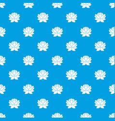 Lotus flower pattern seamless blue vector