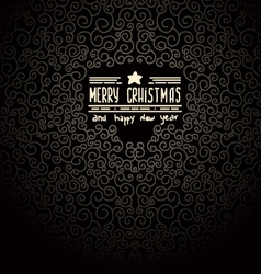 Merry christmas black greeting card vector