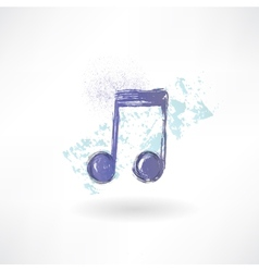 Music grunge icon vector