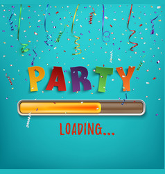 party loading poster template vector image vector image