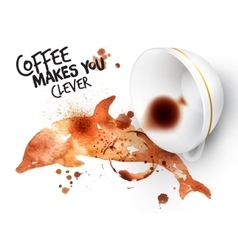 Poster wild coffee dolphin vector