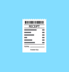 receipt icon vector image