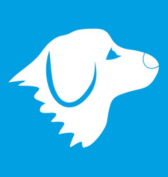 retriever dog icon white vector image vector image