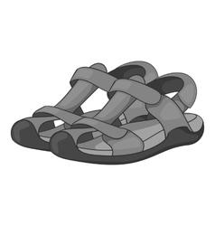 Sandals icon gray monochrome style vector