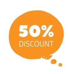 Set of percent less speech bubble sale business vector
