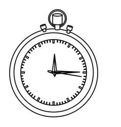 silhouette stopwatch graphic icon flat vector image