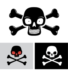 Skull with the bones vector image vector image