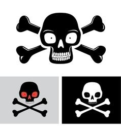 Skull with the bones vector