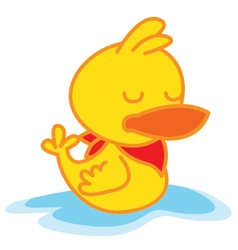 Sleep Duck vector image