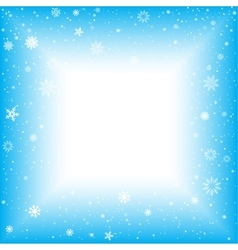 Snow square abstract background vector