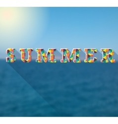 Summer colorful poster for your design vector image vector image
