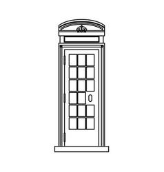 telephone box isolated vector image