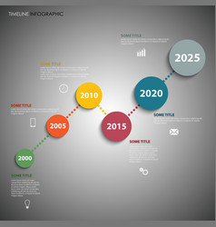 Time line info graphic with colorful simple vector