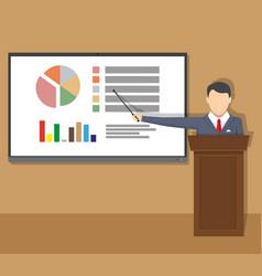 Training staff meeting report business school vector
