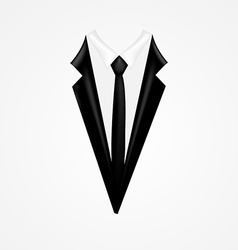 Tuxedo with tie vector image