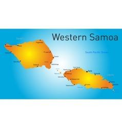 western samoa map vector image vector image