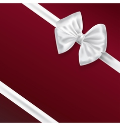 white bow ribbon vector image vector image