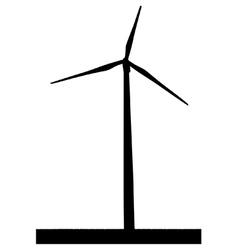 Wind turbine vector image