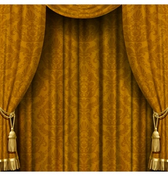 Yellow-brown curtain vector image