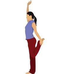 yoga vector image vector image