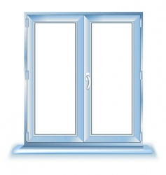 plastic window vector image