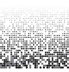 Seamless halftone background vector