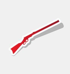 rifle icon black silhouette vector image