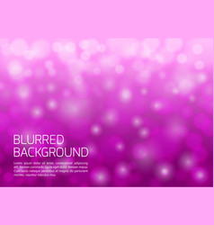 Pink blurred background with twinkly lights vector