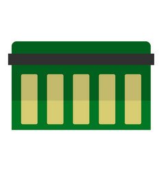 circuit board technology icon isolated vector image