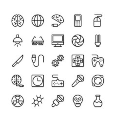 science and technology line icons 3 vector image