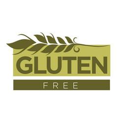 Gluten free substance in cereal grains logo design vector