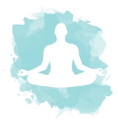 Meditation lotus pose vector