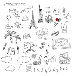 symbols sketch vector image