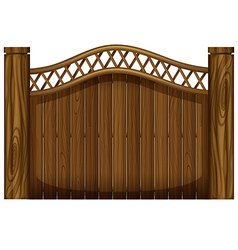 A tall wooden gate vector