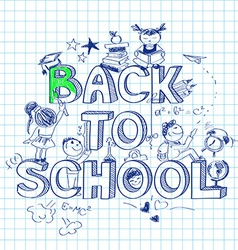 Back to school sketch background vector