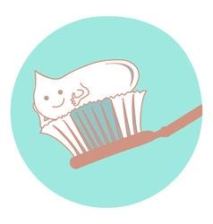 dental brush vector image