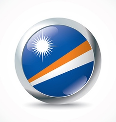 Marshall islands flag button vector
