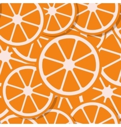 Seamless background fresh orange in flat style vector