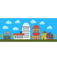 Cityscape with buildings vector