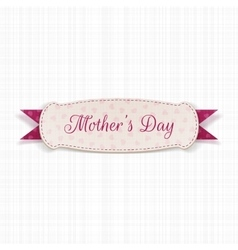 Mothers day white festive sign vector