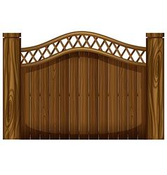 A tall wooden gate vector
