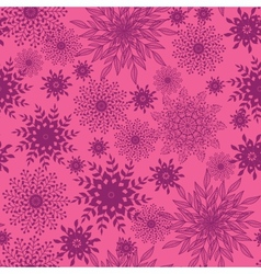 Abstract floral shapes seamless pattern background vector image