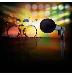 Abstract jazz background with drum kit and vector