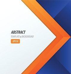 Background overlap dimension modern blue orange vector