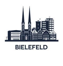 Bielefeld skyline emblem vector