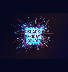 Black friday banner and text vector