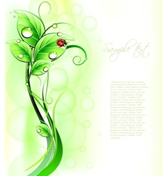 Blur green background with ladybirth vector image vector image