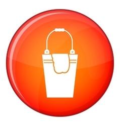 Bucket and rag icon flat style vector